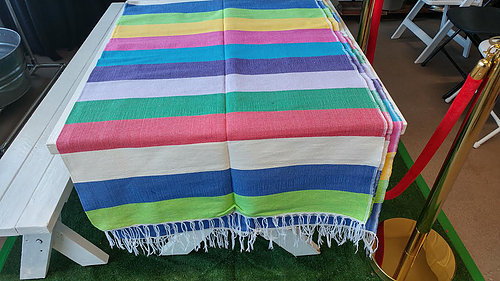 60u2033 By 120u2033 Rectangular Cotton Mexican Tablecloth | Parlani Party Rentals | Los  Angeles, CA. | Parlani Party Rentals And Supplies