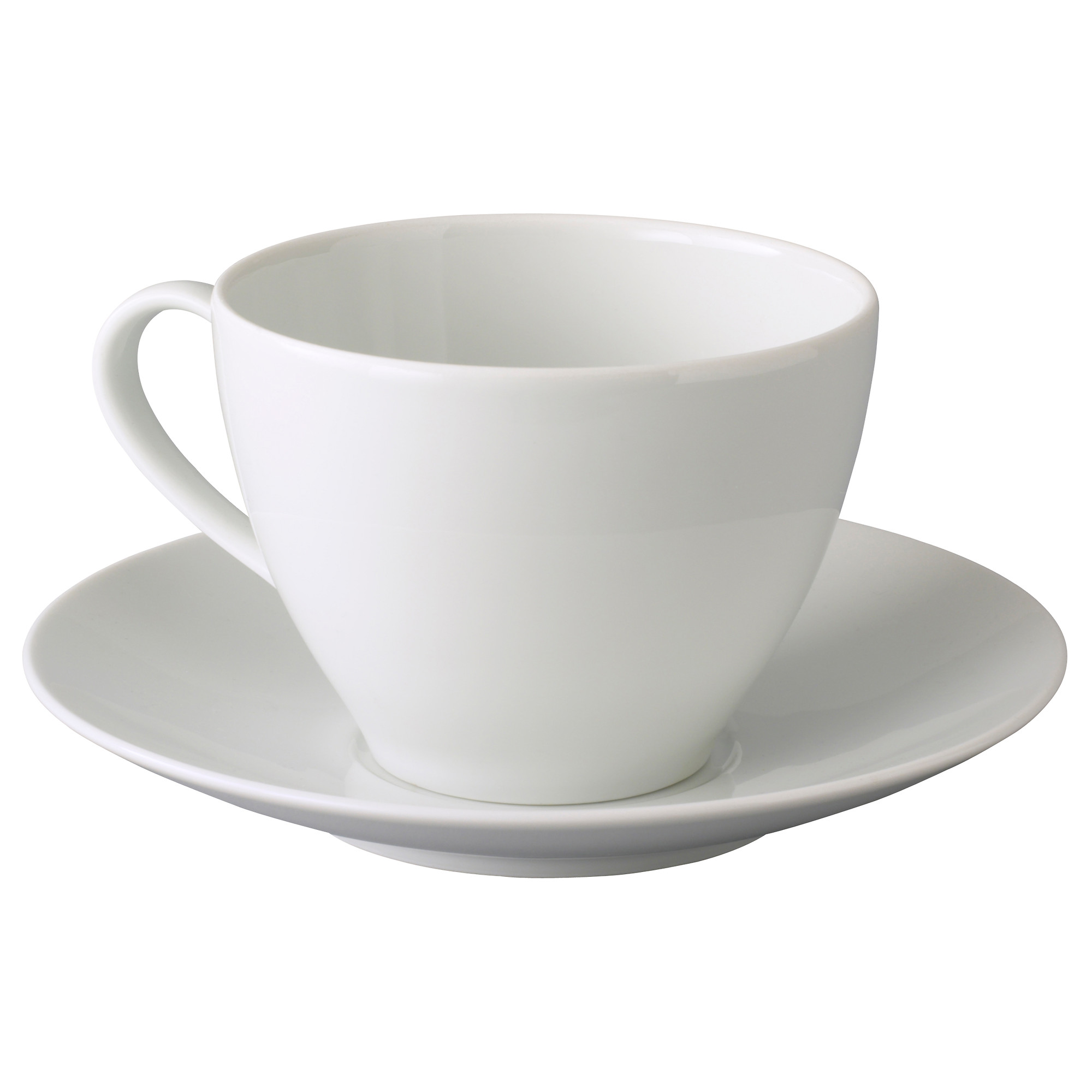 White Coffee Cup Saucer