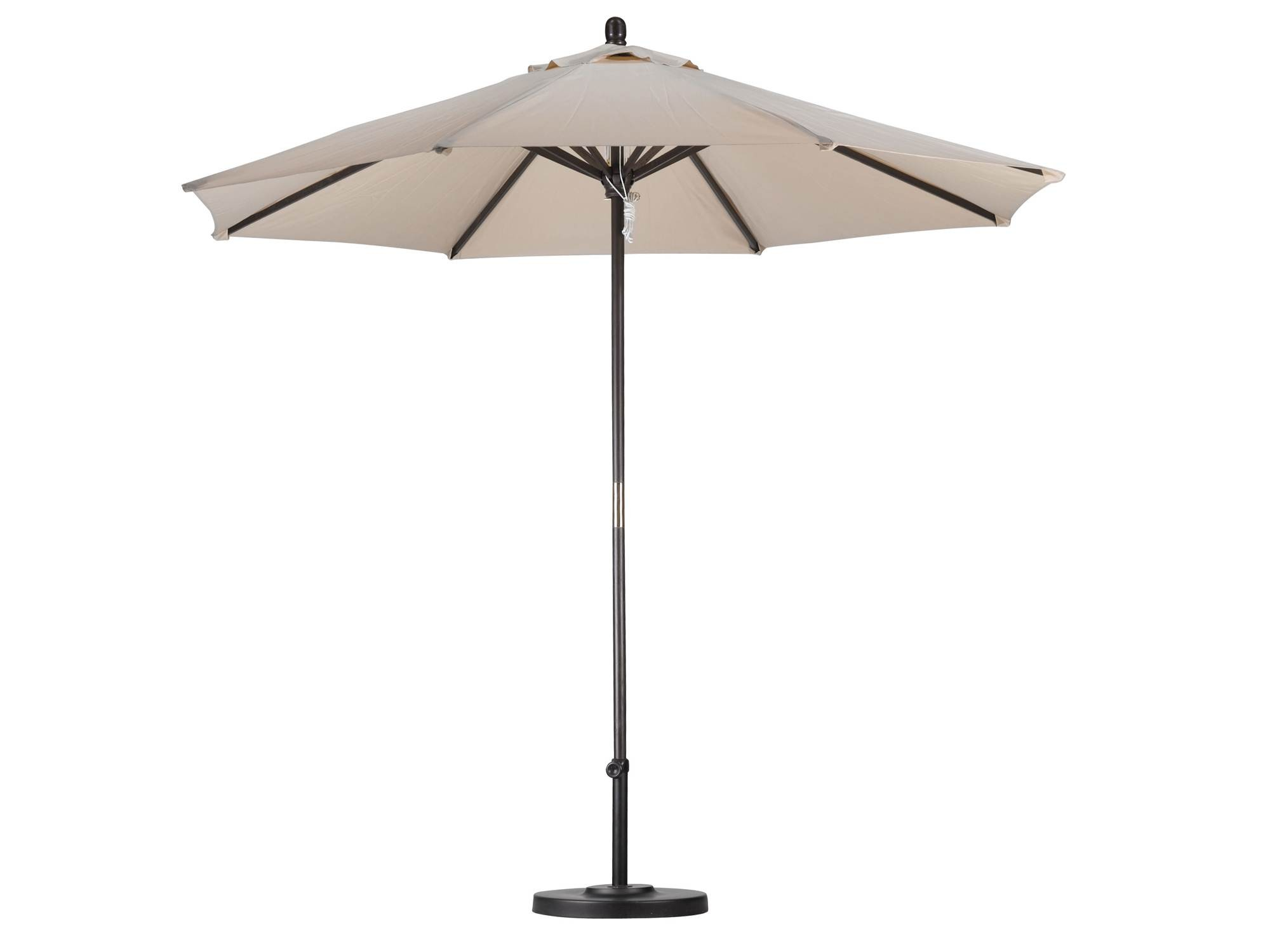 9 Natural Wood Market Umbrella With Stand Parlani